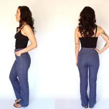 High Waist Bootcut Jeans 70 U0027s Denim Bell Bottom Overalls Vintage From Thevelvetmoon On