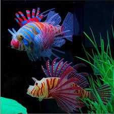 glow in artificial aquarium pet lionfish ornament fish tank