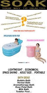 buy foldable bath bucket inflatable bathtub health singapore baby