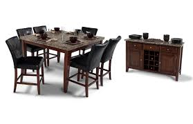bobs furniture kitchen table set montibello 54 x 54 dining 7 set bob s discount furniture