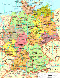 map of gemany germany road map size