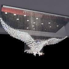 led design large size bird design modern led chandelier light large