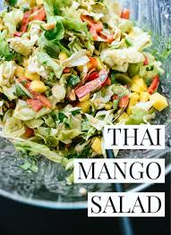 thai mango salad with peanut dressing cookie and kate