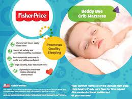 Safety First Heavenly Dreams White Crib Mattress by Amazon Com Fisher Price Beddy Bye Foam Crib Mattress Toys