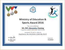sport certificate templates sports certificate templates for ms