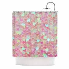 Kess Shower Curtains Kess Inhouse Debbra Obertanec U0027magical U0027 Pink Glitter U0027 Shower