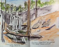 hudson valley sketches sketching karen u0027s waterfalls