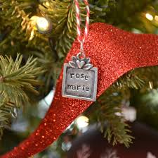 ornament gift metal sted gift tag ornament one artsy