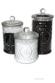 unique kitchen canisters unique kitchen canisters set 3 large glass bee kitchen canisters