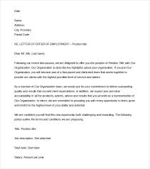 job offer letter template word offer letter template 8 free word