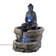 amazon com zen serenity buddha home decor electric water fountain
