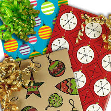 ornament wrapping paper
