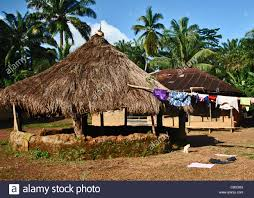 the palaver hut meeting place in a small village between makeni