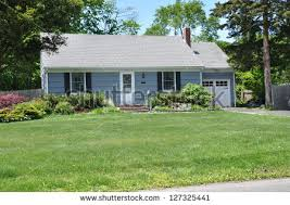 small country home small country home ranch style architecture stock photo 127325441