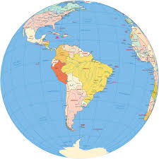 Latin And South America Map by South America Map Globe