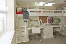 Bunk Beds With Built In Desk Bed Desk Transitional Boy S Room Benjamin Alaskan