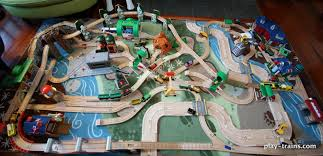 our latest wooden train layout play trains