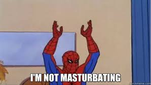 Spiderman Meme Masturbating - i m not masturbating spiderman hands up pokemon quickmeme