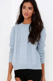 light blue cable knit sweater rhythm fleetwood light blue sweater cable knit sweater 76 00