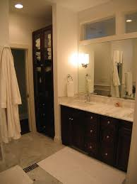 Bathroom Linen Cabinet Built In Linen Closet Bathroom Traditional With Accent Tiles