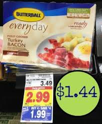 butterball cooked turkey butterball fully cooked turkey bacon just 1 44 at kroger