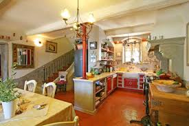 modern french country kitchen design and dining room decor in