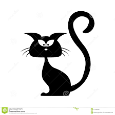 halloween black cat vector silhouette cartoon clipart