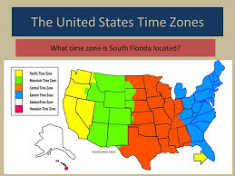 us map divided by time zones map skills time zones ppt