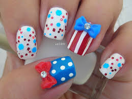 nail art fourth of july inspired nails cuatro de julio youtube