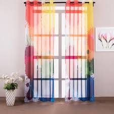 aliexpress com buy 1 piece colorful graffiti sheer curtains for