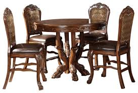 dresden elegant formal round counter height 5 piece dining table
