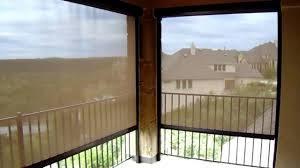 Exterior Shades For Patio Motorized Exterior Patio Shade Steiner Ranch Austin Tx Youtube