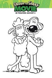shaun sheep coloring sheet activities kids