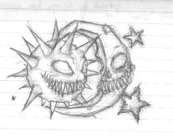 evil sun and moon tattoo sketch in 2017 real photo pictures