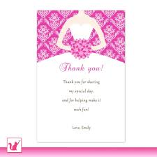 thank you notes for bridal shower best shower