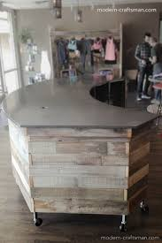 Concrete Reception Desk Diy Reception Desk Awesome Craftsman Style Wood And Concrete
