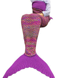 aliexpress com buy yarn knitted mermaid tail blanket handmade