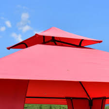 Awning Side Walls Goplus Op3186 2 Tier 11 U0027x11 U0027 Gazebo Canopy Shelter Patio Party