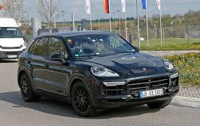 2018 porsche cayenne spied inside and out with cleaner look