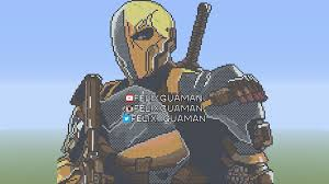 deathstroke minecraft pixel art by felixguaman on deviantart