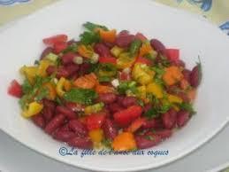 cuisiner haricots rouges salade de haricots rouges recette ptitchef