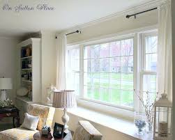 Curtains For A Large Window Curtain Rod Ideas For Large Windows Gopelling Net