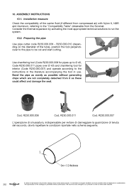 sicomat manual use and maintenance tubes and fittings