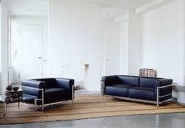 canapé lc3 location de canapé lc3 grand sofa 3 places cuir noir trio sur