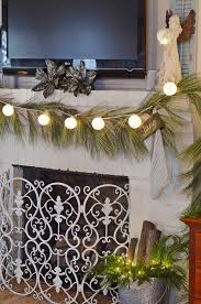 Plant Used As A Christmas Decoration Angelic Christmas Mantel Cottage At The Crossroads