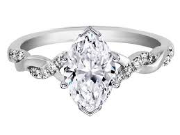 marquise diamond engagement ring engagement ring marquise diamond twisted pave band