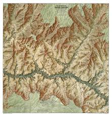 Grand Canyon Arizona Map by Heart Of The Grand Canyon Map National Geographic Store