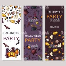 happy halloween poster design vector template with cartoon style