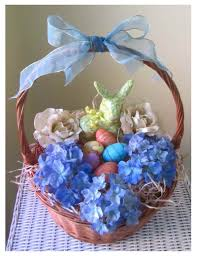 decorating easter baskets easter basket with decorated eggs flowers and bunny easy