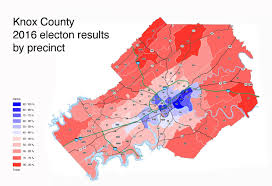 Election Map Results by A Heat Map Of Knox County U0027s 2016 Election Results By Precinct